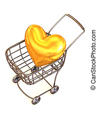 Consumer\'s basket with Heart.