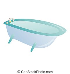 Isolated bath tub on a white background, Vector illustration
