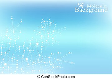 Structure molecule atom dna and communication background. Concept of neurons. Connected lines with dots. Illusion nervous system. Medical scientific backdrop. Vector illustration.