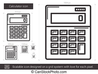 Calculator line icon.