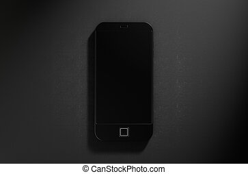 Generic Modern Smart Phone - A 3D render of a modern generic...