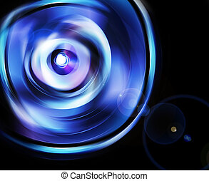 beam refraction from lens - abstract background like beam...