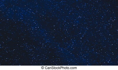 stars in the night sky time lapse - millions of stars in the...