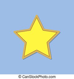 Yellow star icon. Vector illustration.