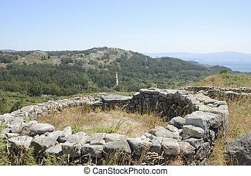 Hillfort in Cangas - Prehistorical Ruins of a hillfort the...