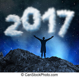 Concept New Year 2017.