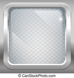 Window with clear glass - Fantastic steel window or porthole...