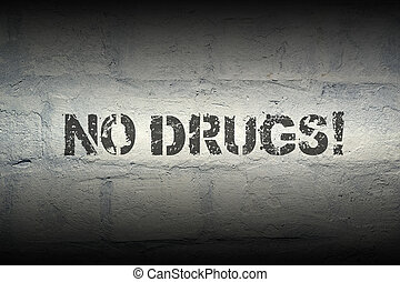 no drugs GR - no drugs exclamation stencil print on the...