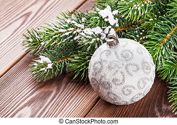 Christmas bauble decor and tree