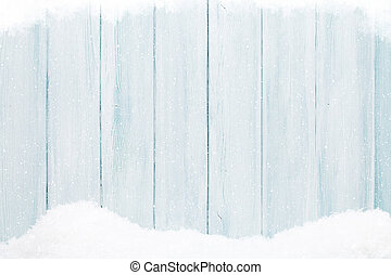Blue wood texture with snow - Blue wooden wall texture with...