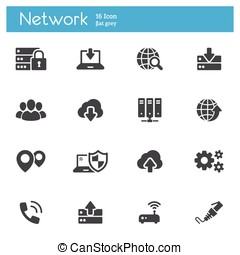 Network flat icons - Modern flat icons set cloud computing,...