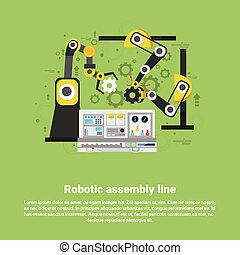 Robotic Assembly Line Industrial Automation Industry...