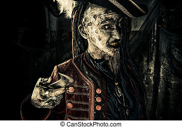 movie character - Portrait of a noble brave dead pirate....