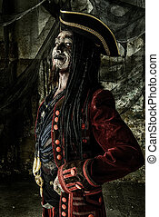 smiling pirate - Portrait of a noble brave dead pirate....