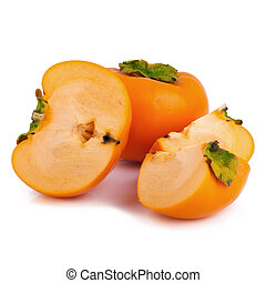 persimmon on white background.