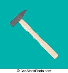 Carpenter hammer tool.