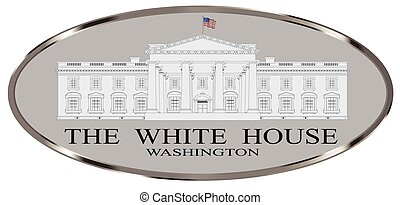 The White House - Depiction of the White House home to the...