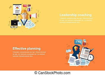 Leadership Coaching Management Effective Planning Strategy Business Web Banner