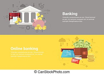 Financial Online Banking Business Web Banner