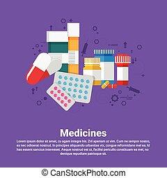 Medicines Prescription Medical Application Health Care Medicine Online Web Banner