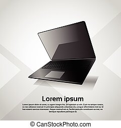 Responsive Design Laptop Computer Modern Device Vector...