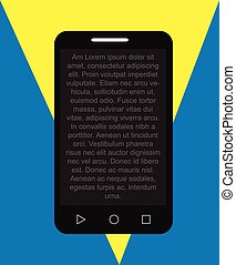 Text Message on Smartphone Vector Illustration
