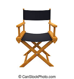 Director Chair Isolated - Director Chair isolated on white...