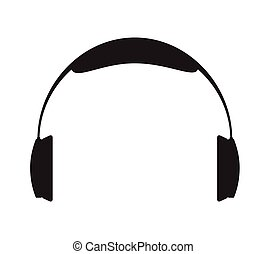 Headphone Silhouette Vector Illustration
