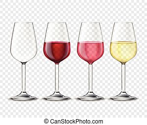 Wineglasses Alcohol Drinks Set Transparent Poster - Classic...