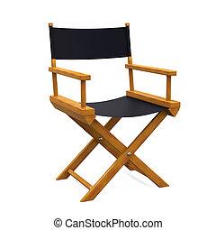 Director Chair Isolated - Director Chair isolated on white...