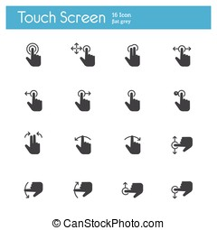 Touch Screen Icons icon - Touch Screen Icons flat icon
