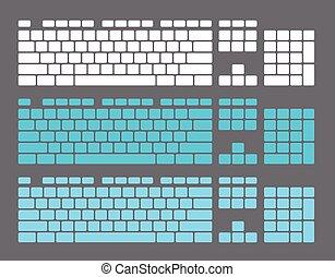 Set of Keyboard Keys