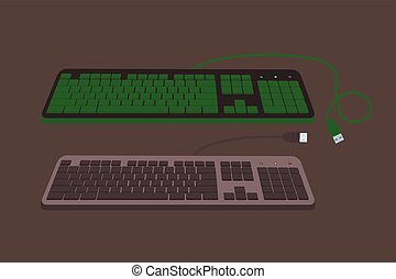 Variety of Keyboards Vector
