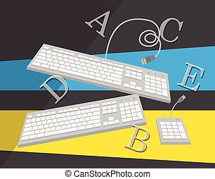 Alphabetic Keyboards Vector Illustration