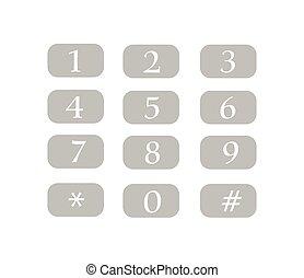 Num Keys Vector Illustration