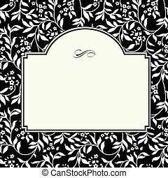 Vector Square Ivy Frame - Vector frame and pattern. Seamless...