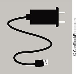 USB Charger Vector Illustration