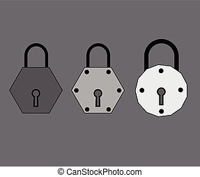 Stylish Locks Vector Illustration