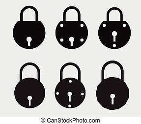 Locks Shapes Vector Illustration Designs