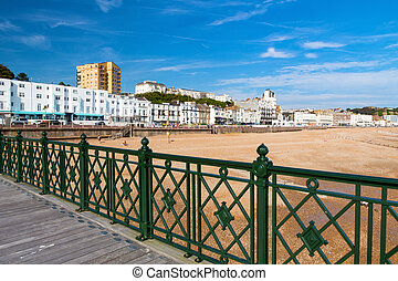 Hastings East Susses England - Overlooking the town and...