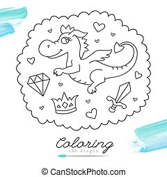 dragon for coloring