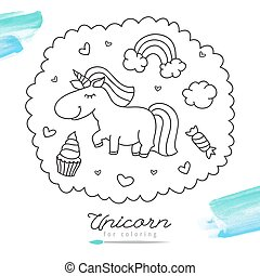 unicorn for coloring