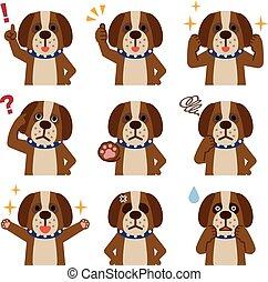Set of dog look - Vector illustration. Original paintings...