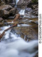 Close up of falls creek.