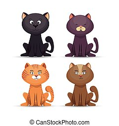 collection cat cute pet icon
