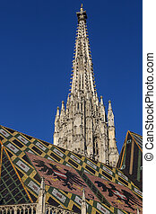 Stephansdom - Vienna - Austria - Early morning sunshine on...