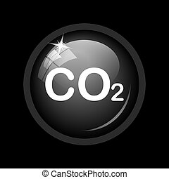CO2 icon Internet button on black background