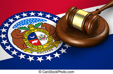 Missouri State Law Legal System Concept - Missouri US state...