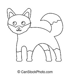 Fox icon outline. Singe animal icon from the big animals...