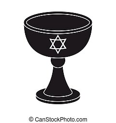 Wine cup icon in black style isolated on white background....